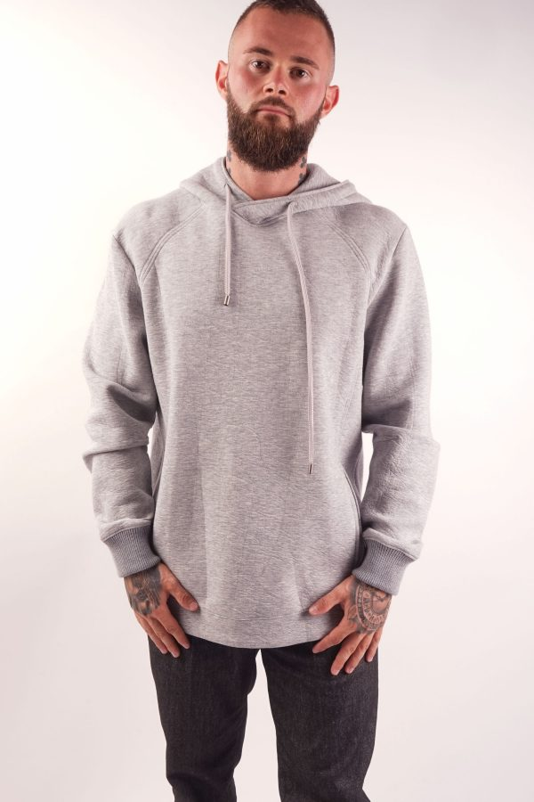 menswear luxury seat hoodie grey melange