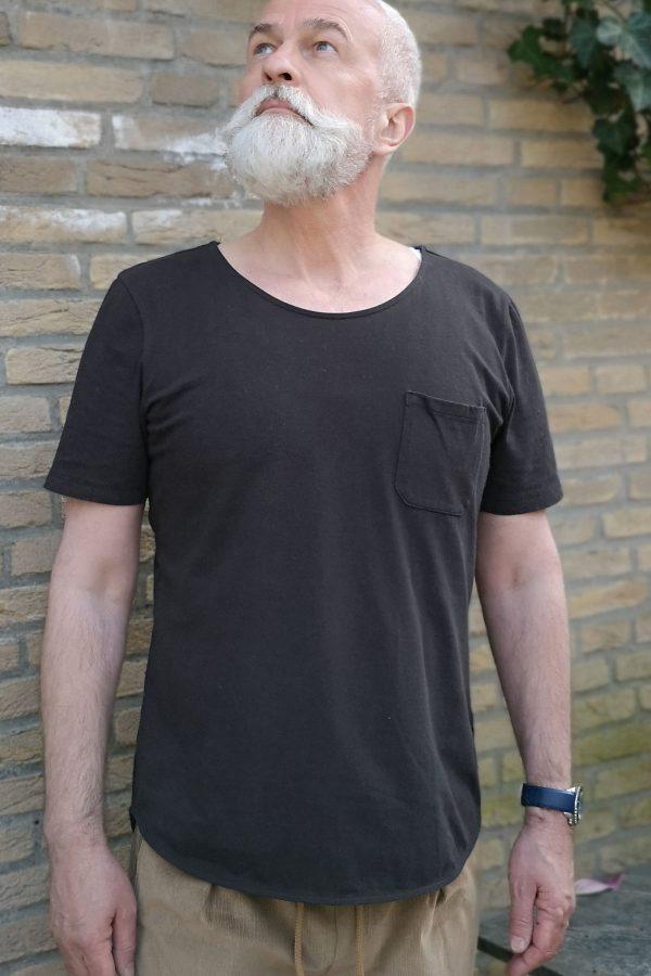 contemporary menswear organic cotton modern Tee black