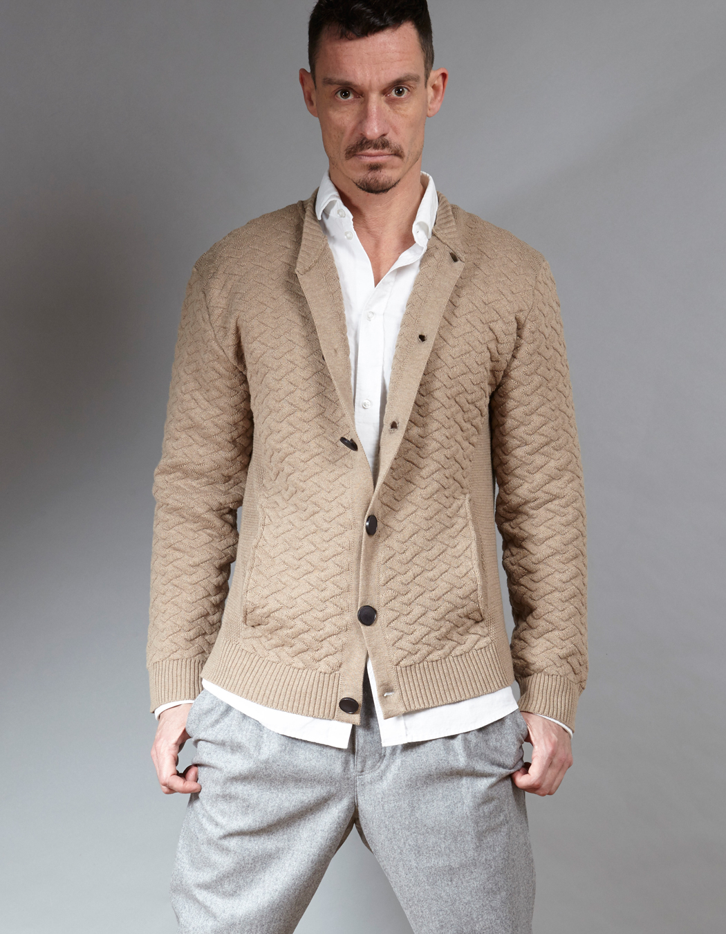 Menswear cashmere blend vest