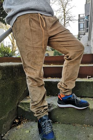 menswear winter corduroy jogger trouser