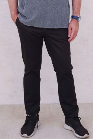 contemporary menswear twill tapered chino black