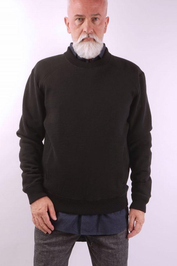 contemporary menswear luxury sweat jumper black