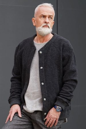 Antra organic wool fleece cardigan | Sustainable menswear