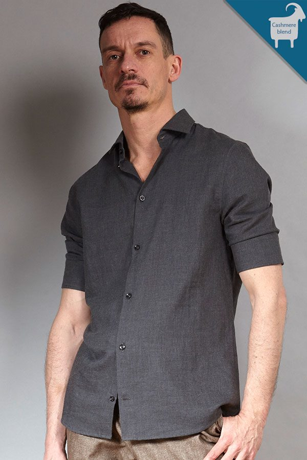 Antra Cashmere-blend shirt | Sustainable menswear