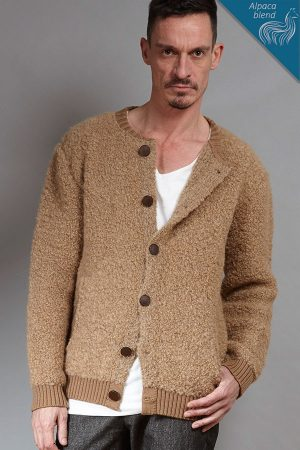 Alpaca-blend knit cardigan | Sustainable menswear
