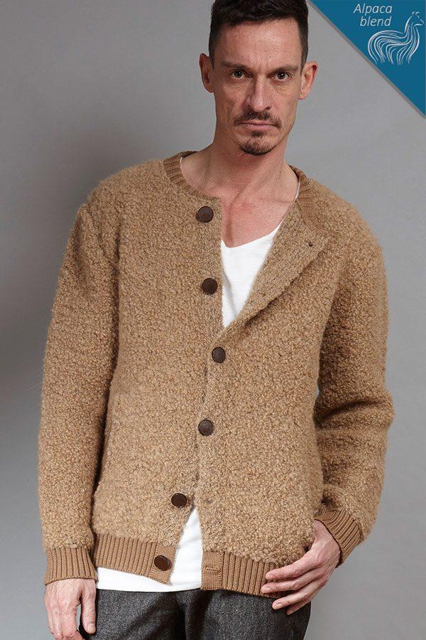 Alpaca-blend knit cardigan | Sustainable menswear