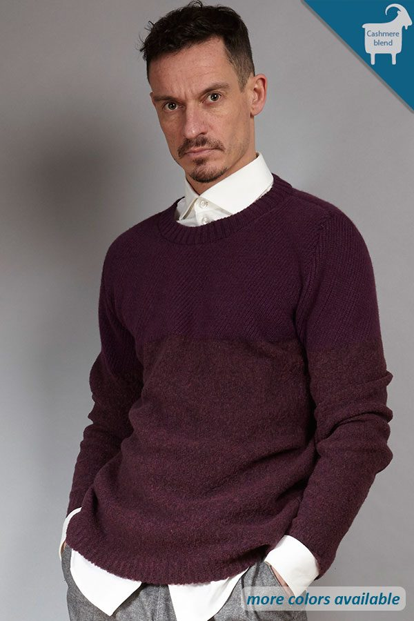 Bordeaux cashmere-blend jumper | sustainable menswear