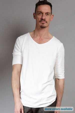 Double-layer Tee white | Sustainable menswear
