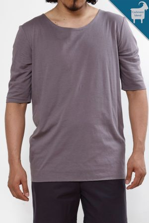 Cashmere blend double layer Tee | Sustainable menswear