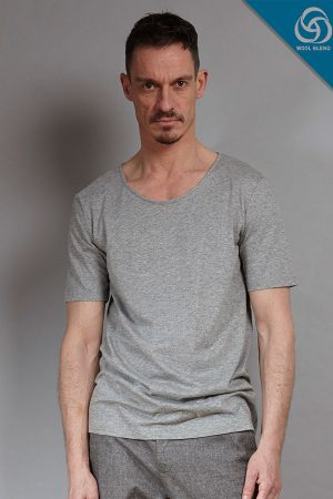 cotton wool blend sustainable menswear Tee